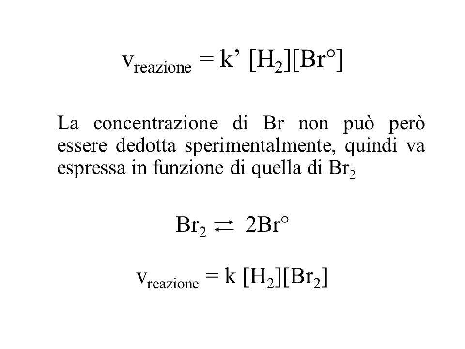vreazione = k' [H2][Br°]